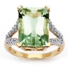 The one I'll get which I don't need Green amethyst & diamond ring set in gold