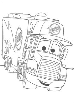 Free Printable Coloring Pages Preschoolers of cars trucks and