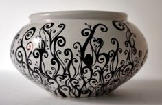 Spray paint, sharpie marker, clear coat - great idea for glaze disasters!