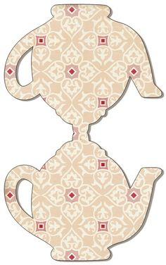 Teapot Card Top Fold PRINTABLE