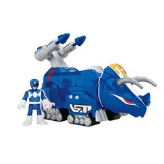 """Fisher-Price Imaginext Power Rangers Blue Ranger and Triceratops Zord - Fisher-Price - Toys """"R"""" Us"""