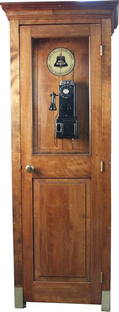 Pay Phone Booth | ... & Glass Bell System Telephone Booth w/ early model rotary pay-phone