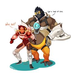 Overwatch Outfit-Swap: Tracer and Winston [Submission by Anon] It's done! Okay, so I learned two things while drawing this: 1. I have no idea how to draw things that aren't cats, sharks, or people. 2. These drawings have been getting progressively...