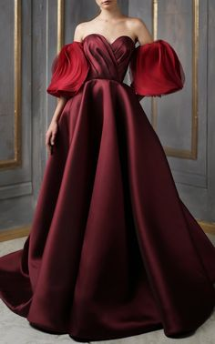 Evening Dresses, Prom Dresses, Formal Dresses, Beautiful Gowns, Beautiful Outfits, Beautiful Clothes, Couture Dresses, Fashion Dresses, Red Frock