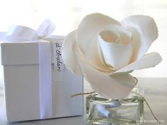 Paper rose diffuser from French Blue - love this!