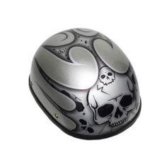 Silver Motorcycle Helmet 1