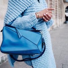 "Annabelle Fleur on Instagram: "" @loewe bag & @ilovemrmittens knit #pfw"""