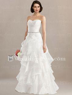 Robe de mariée avec jupe à volants DE454