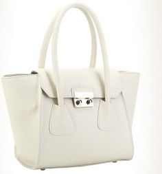 white candy color bat genuine leather shopping bags by starbag, $69.50