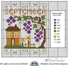 Per il calendario perpetuo, voilà   lo schema per il mese di Settembre...