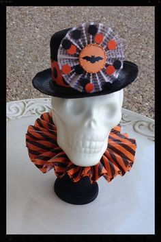 Halloween Decoration Gentleman Skull Halloween by JeanKnee on Etsy