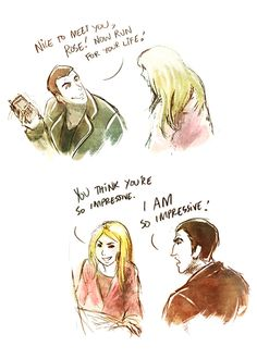 I fell in love with The Doctor and Rose Tyler because I didn't have to, but I wanted to.