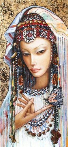 "Saatchi Art Artist Dobriela Koeva; Painting, ""Beautiful butterfly-sold"" #art"
