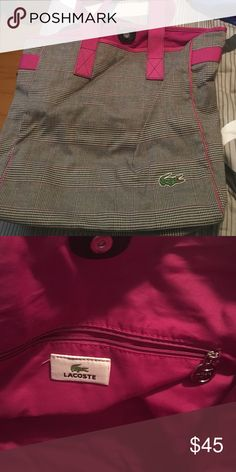 Lacoste bag Overnight large bag, stuck in my closet.. nothing wrong with it.. does not come with straps Lacoste Bags Totes