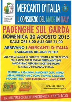 I Mercanti d'Italia arrivano a Padenghe sul Garda domenica 30 agosto 2015 @gardaconcierge