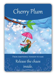 Cherry Plum - Bach Flower Oracle Card by Susanne Winberg. Message: Release the chaos inside.