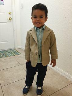 Look to church. Toddler boy
