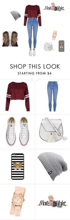 """Movie Date Night"" by mrsgomez-343 on Polyvore featuring River Island, Converse, Yoki, The North Face, Michele, moviedate and lovethisoutfit"