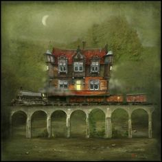Railway Station (St. Enoch Subway and Glenfinnan Viaduct) by Matylda Konecka