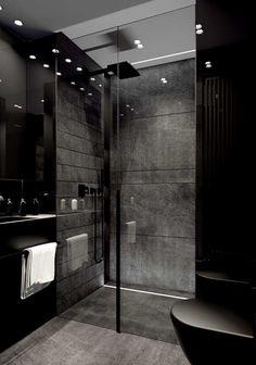 Black Bedroom Design, Bathroom Design Luxury, Home Room Design, Dream Home Design, Home Interior Design, House Design, Kitchen Interior, Dream House Interior, Luxury Homes Dream Houses