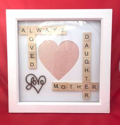 Mother Daughter Photo Frame. Scrabble Box Frame For Mums And Daughters #motherdaughter #mumgift #daughtergift #scrabbleboxframe