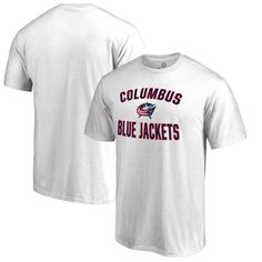 Columbus Blue Jackets Fanatics Branded Big   Tall Victory Arch T-Shirt -  White d1e0785ab