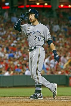 Jonathan Lucroy, Milwaukee Brewers  Brewers Jerseys 40% OFF Now! www.thegoodzonline.com