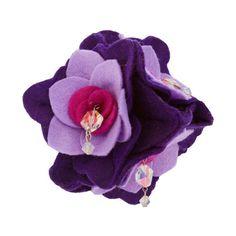 "Kyoto Carnival ""Petal Pop"" Felt Flower Hair Clip ($70) ❤ liked on Polyvore"