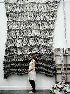 WWW: Secret Messages, Great Knits on TV, Knitting as Art: Australian artist Jacqueline Fink of Little Dandelion