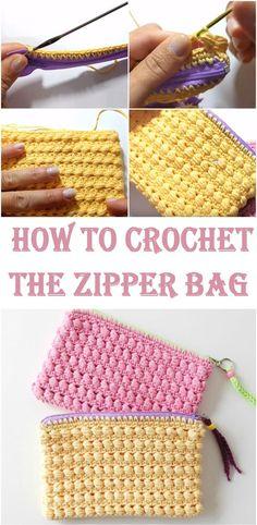 Crochet the zipper Bag