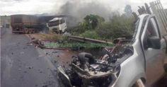 Trânsito: Grave acidente deixa um morto e dois feridos na BR-364 - Lincknews