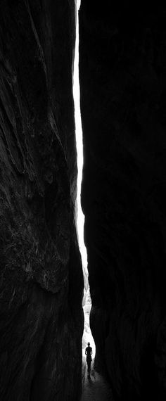 """there is a crack in everything. that's how the light gets in."" ~ Leonard Cohen Narrow spaces"