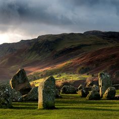 "pagewoman: "" asiwaswalkingallalone: "" Before the Rain by Rich Goddard on Flickr. "" Castlerigg Stone Circle, Cumbria, England """