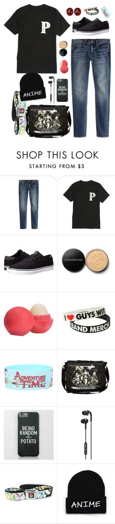 """""""welp I've got therepy in like an hour and I haven't put on makeup or eaten all day but pfft who needs that"""" by xx-prince-gumball-xx ❤ liked on Polyvore featuring J.Crew, Lakai, Youngblood, Eos, Skullcandy and PrinceGumballsCloset"""