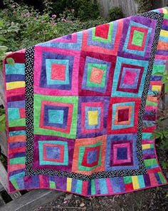 Tilt a Square download from Connecting Threads. 12 fat quarters +