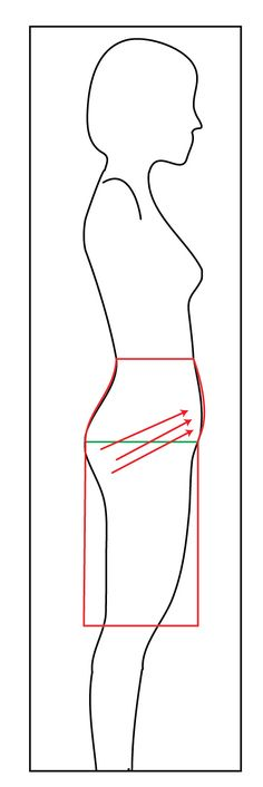How to Properly Measure for a Slim-Fitting Pencil Skirt. Account for belly by putting a board or quilting rule along the belly to capture the extra circumference needed.