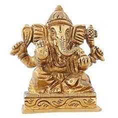 Indian Gift Items Hindu God Décor Ganesha statue For Car Brass Metal 2.75 inch ShalinIndia http://www.amazon.in/dp/B010M3JLEK/ref=cm_sw_r_pi_dp_f7U3vb1AP2WHQ