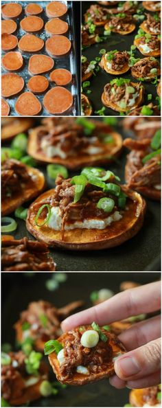 BBQ Pulled Pork Sweet Potato Bites