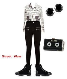 """street wear"" by dida-kirei on Polyvore featuring Christian Dior, Paige Denim, Giuseppe Zanotti and West Coast Jewelry"