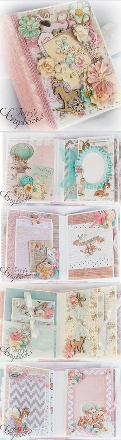 Terry's Scrapbooks: Prima Heaven Sent Baby Mini Album