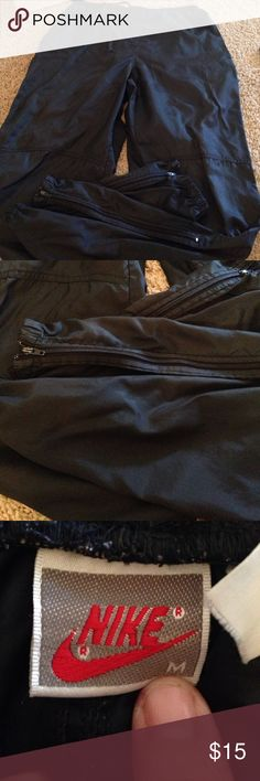 Lightweight Nike pants Zip at ankles- great for hiking Nike Pants Sweatpants & Joggers