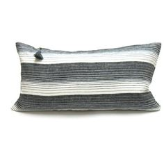 "Cortina Pillow In Black - 14"" x 26"""