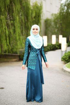 Sara Songket Dark Blue Turquoise