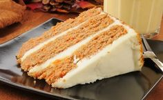 Triple-Layer Carrot Cake with Cream Cheese Frosting.  Sub Cup4Cup.