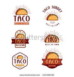 Fast Food Logo Design Retro Cartoon Stock Vector (Royalty Free) 1157466493