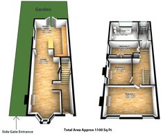 Small Victorian End of Terrace with a double storey side return extention and the second reception widened