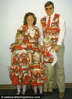 Snazzy: Don't let last year's wrapping paper end up in the trash...dress the family in it