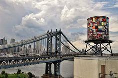 Arte sobre los depósitos de agua de Nueva York