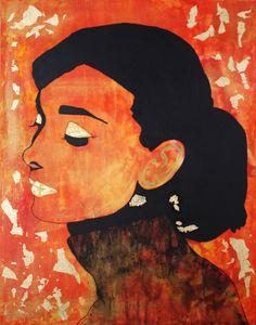 ART et Collections ORIGINAL Painting Toile Peinture Acrylique Modern Contemporary Textured Audrey Hepburn Gold By Kathleen Artist PRO de la boutique KathleenArtistPro sur Etsy