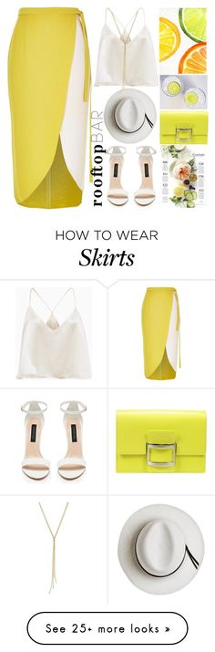 """""""Summer Date:Rooftop Bar"""" by grozdana-v on Polyvore featuring River Island, Calypso Private Label, Roger Vivier, summerdate and rooftopbar"""